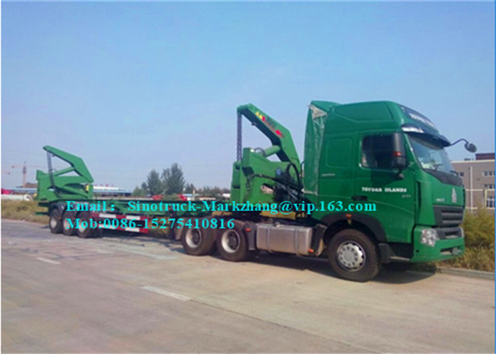 A7 10 Wheeler Port Handling Equipments Box Loader Trailer 45-100 Tons Load Capacity