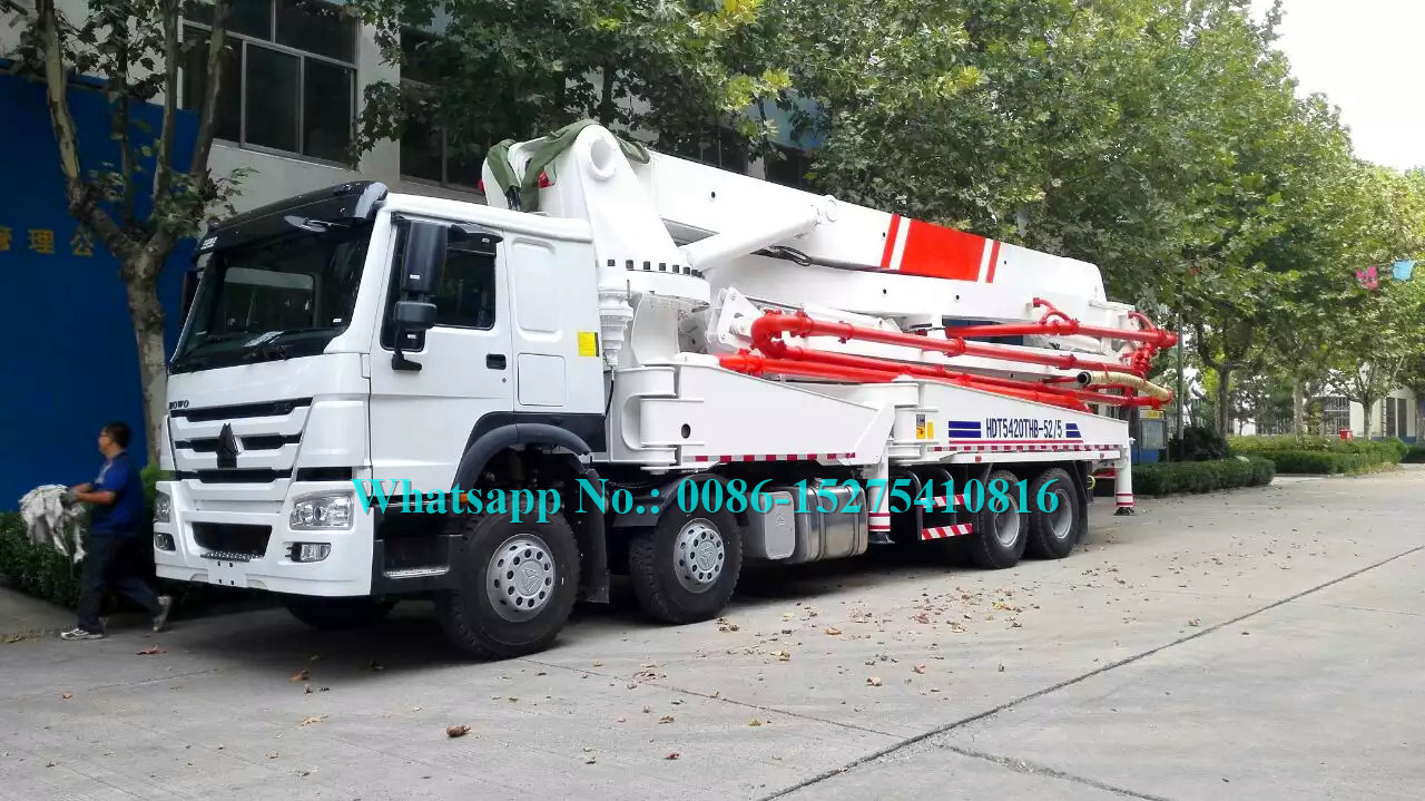5 Arms Concrete Pumping Machine With Multilingual Man-Machine Interface System